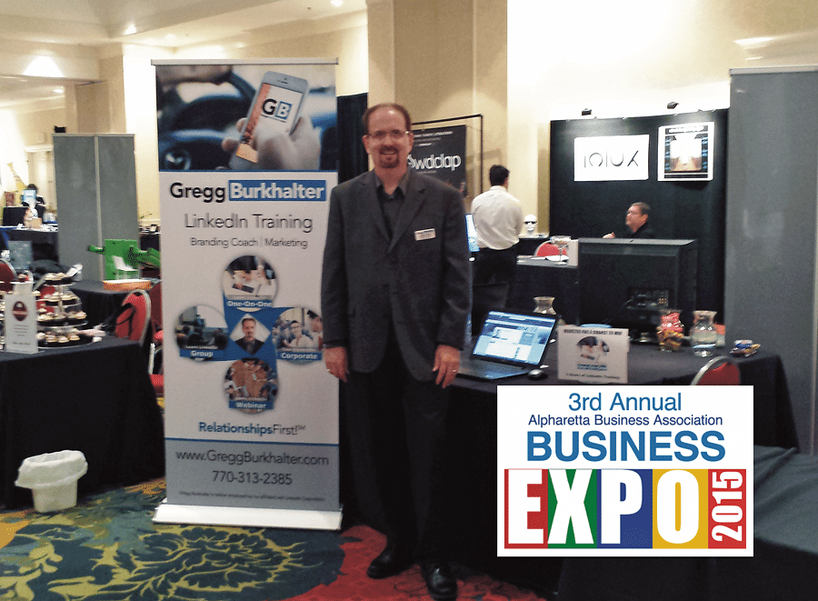 Booth at the Alpharetta Business Expo - 2015