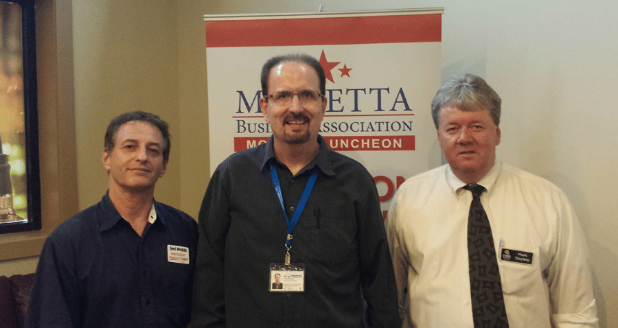 Visiting with the Marietta Business Association